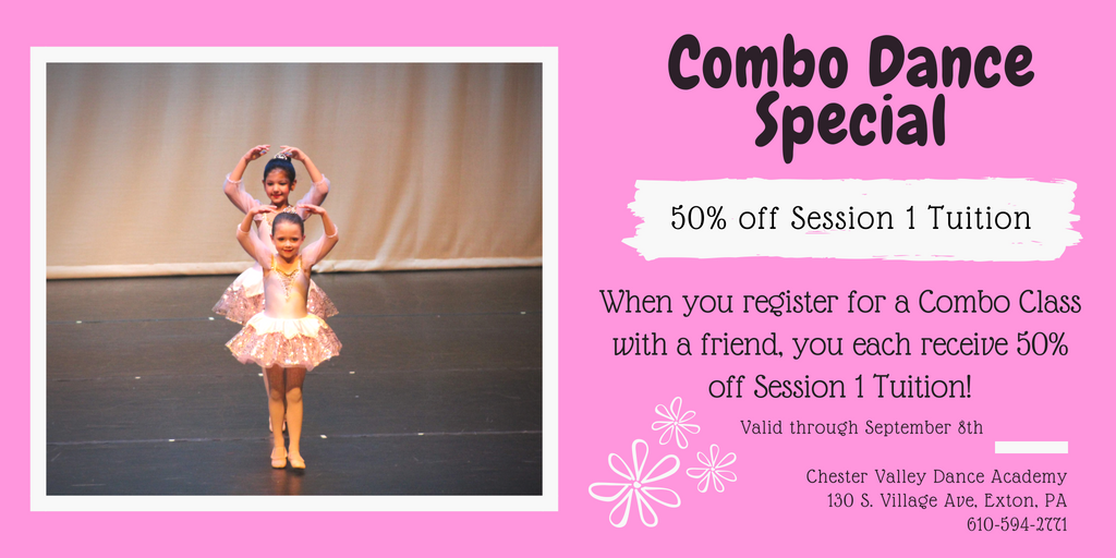 Combo Class Special 50 Off Session 1 Tuition Chester Valley